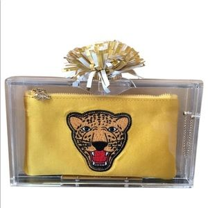 Charlotte Olympia cheerleader clutch.